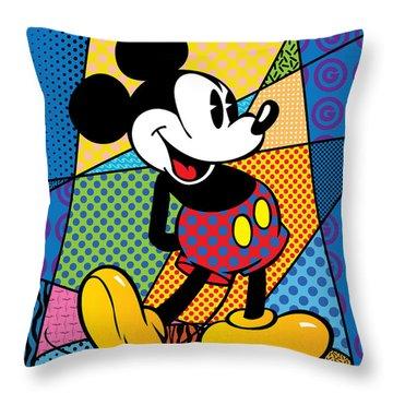 Mickey Spotlight Throw Pillow