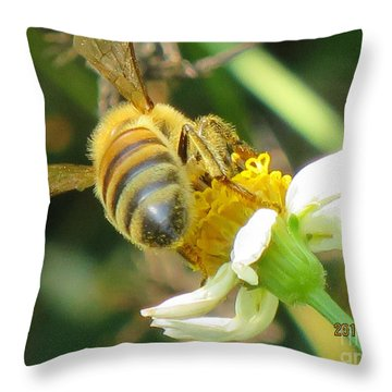 Micro Photography Throw Pillow