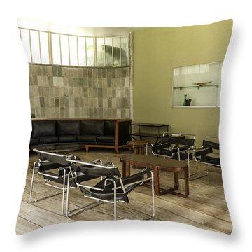 Midcentury Modern Interior Throw Pillow by Lynn Palmer