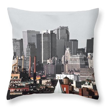 Midtown Manhattan 1978 Throw Pillow