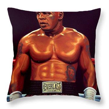 Mike Tyson Throw Pillow
