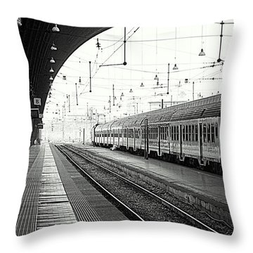 Milan Central Station Throw Pillow by Valentino Visentini