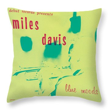 Miles Davis -  Blue Moods Throw Pillow