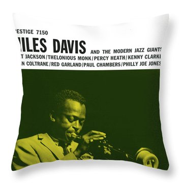 Miles Davis -  Miles Davis And The Modern Jazz Giants (prestige 7150) Throw Pillow
