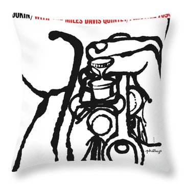 Miles Davis Quintet -  Cookin' With The Miles Davis Quintet Throw Pillow