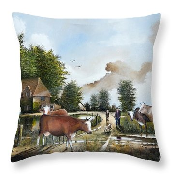 Milking Time Throw Pillow