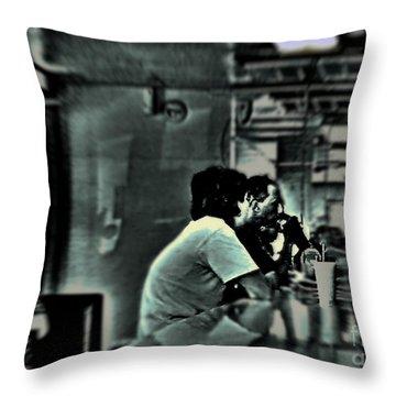 Milkshake Throw Pillow by Lin Haring