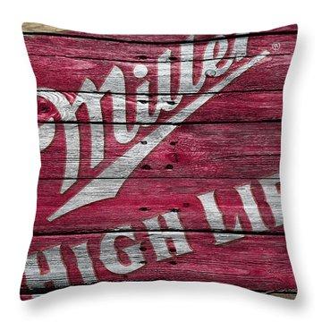 Miller High Life Throw Pillow