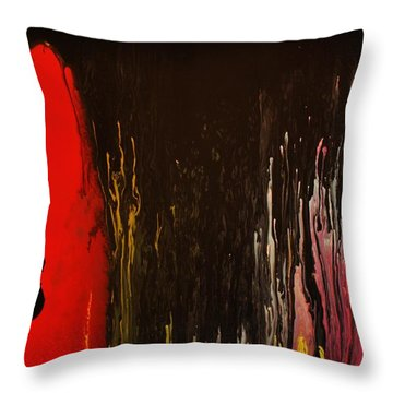 Throw Pillow featuring the painting Mingus by Michael Cross