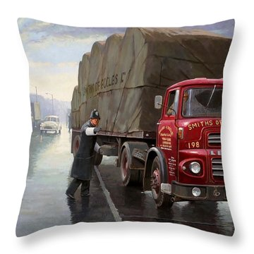 Ministry Check. Throw Pillow by Mike  Jeffries