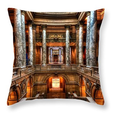 Minnesota State Capitol St Paul Throw Pillow by Amanda Stadther