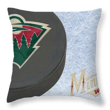 Minnesota Wild Throw Pillow by Joe Hamilton