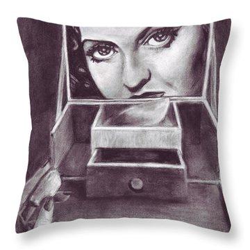 1 Minute Miss Davis Throw Pillow