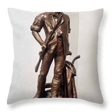 Minutemen Soldier Throw Pillow by Granger