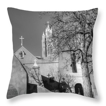 Mission In Black And White Throw Pillow