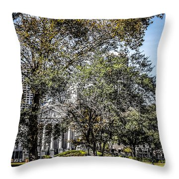 Mississippi Steamboat Throw Pillow