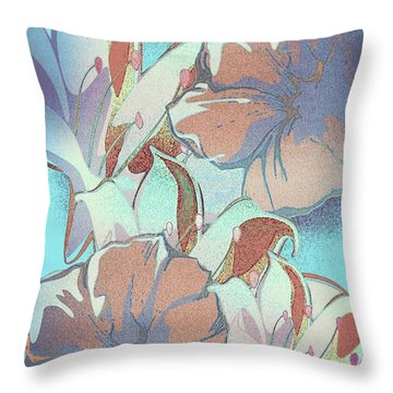 Throw Pillow featuring the digital art Misty by Gayle Price Thomas