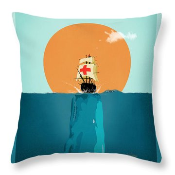 Moby  Throw Pillow by Mark Ashkenazi