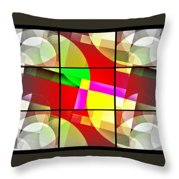 Mod 123 Throw Pillow