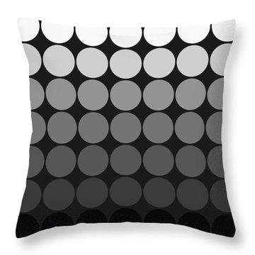 Mod Pop Gradient Circles Black And White Throw Pillow