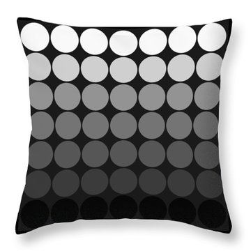 Mod Pop Gradient Circles Black And White Throw Pillow