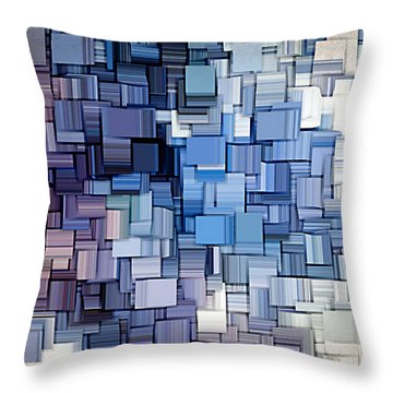 Modern Abstract Vi Throw Pillow by Lourry Legarde