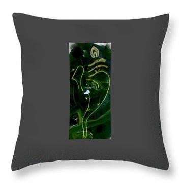 Modern Ganesha Throw Pillow by Poornima Ravi
