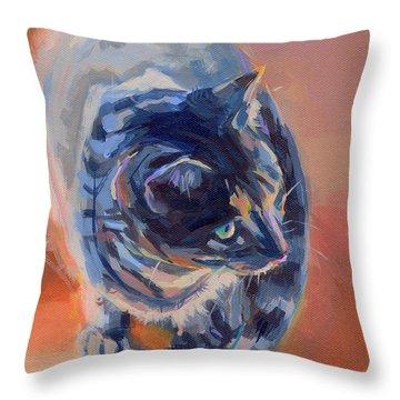 Mona Lisa Throw Pillow by Kimberly Santini