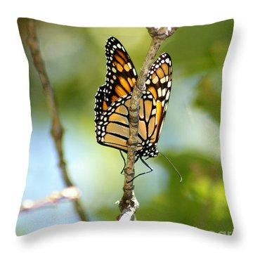 Monarch Throw Pillow by Lori Tordsen