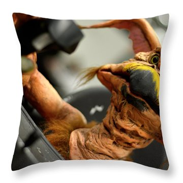 Monster Salacious Crumbes Throw Pillow by Tommytechno Sweden