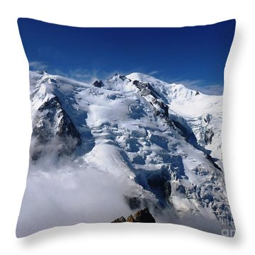 Mont Blanc - France Throw Pillow