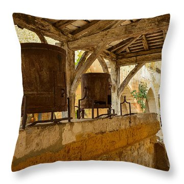 Throw Pillow featuring the photograph monpazier en Perigord by Dany Lison