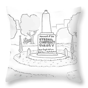 Monument Of The Eternal Conspiracy Theory Throw Pillow