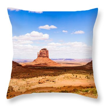 Monument Valley Panorama Throw Pillow