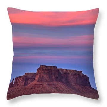 Throw Pillow featuring the photograph Monument Valley Sunset by Alan Vance Ley