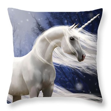 Moonbeam The Second Throw Pillow by Kate Black