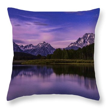 Moonlight Bend Throw Pillow