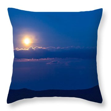 Moonrise Throw Pillow by David Cote