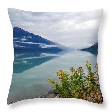 Moose Lake Throw Pillow by Yue Wang