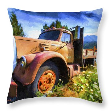 Moose Pass Limo Throw Pillow by David Wagner