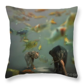 Mornin' Throw Pillow by Martine Roch