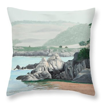 Morning At Point Lobos Throw Pillow