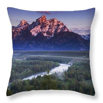 Tetons Throw Pillows