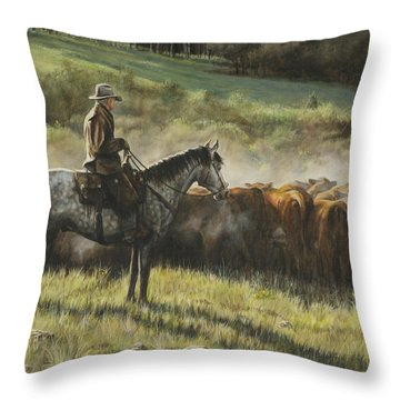 Morning In The Highwoods Throw Pillow