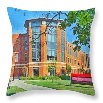 Morning On The First Day Of Classes. Student Union. The Ohio State University Throw Pillow
