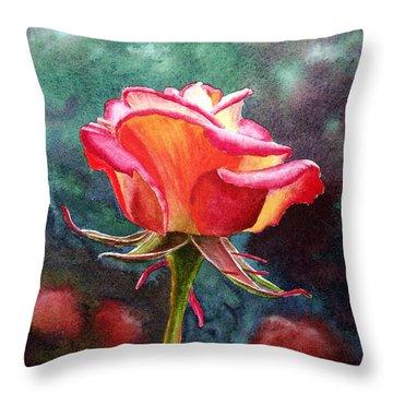 Morning Rose Throw Pillow