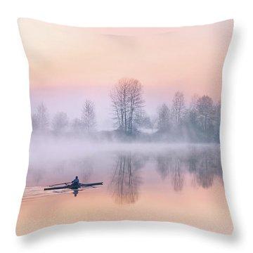 Morning Solitude Throw Pillow