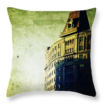 Morningside Heights Green Throw Pillow by Natasha Marco