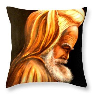 Moroccan Man Throw Pillow