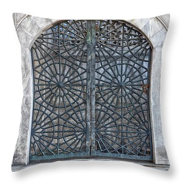 Mosque Window Throw Pillow by Antony McAulay